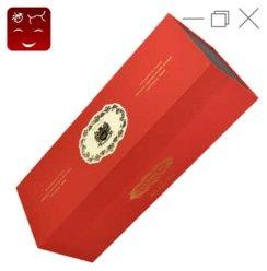 红酒礼品袋 红酒礼盒 葡萄酒送礼皮盒 (不含红酒) 红色单支红酒礼盒