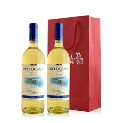 红酒客 南非 双洋苏维翁白葡萄酒双支礼袋装