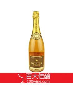 法国歌娜桃红干香槟