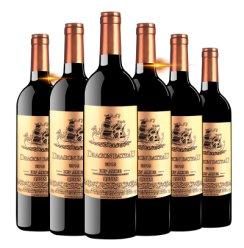 龙船御道金标法国原瓶进口酒水波尔多产区AOC级别14度750ml*6瓶干红葡萄酒整箱装红酒