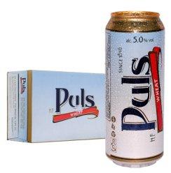 德国原装进口 宝乐氏(Puls)经典小麦啤酒 500ml*24听整箱装