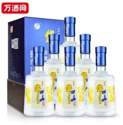 【万酒网】 百年牛栏山二锅头蓝色经典35度浓香型白酒500ML *6瓶  整箱装