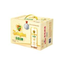 青岛啤酒全麦白啤500ml*12听*2箱