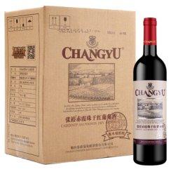 张裕 橡木桶醇酿 赤霞珠干红葡萄酒 750ml*6瓶 整箱装 国产红酒