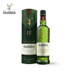 格兰菲迪(Glenfiddich)12年苏格兰达夫镇单一麦芽威士忌700ml