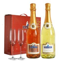 德国原瓶进口红酒 蓝仙姑BlueNun 莱茵黑森 雷司令 起泡酒双支礼盒750ml*2瓶