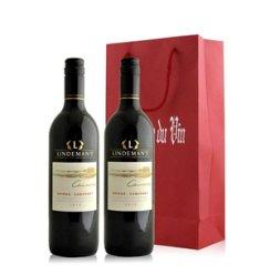澳大利亚 利达民卡瓦拉西拉赤霞珠干红葡萄酒双支礼袋装