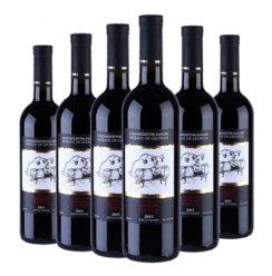格鲁吉亚原装原瓶进口干红葡萄酒-法国爱喝的红酒-萨别拉维经典干红红酒 2013年 萨别拉维经典 干红葡萄酒    750ml  6支