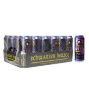 德国进口啤酒 SChwarzer Herzog 歌德黑啤酒500ml*24听整箱装 歌德