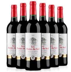 也买酒 法国原瓶 法南之门干红葡萄酒 6支整箱装