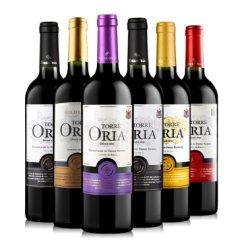 西班牙进口红酒 欧瑞安 Torre Oria(DO级)干红葡萄酒 750ml*6瓶 整箱装