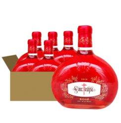 阿根廷原装原瓶进口红酒 圣菲利佩桃红葡萄酒750ml 六瓶 整箱
