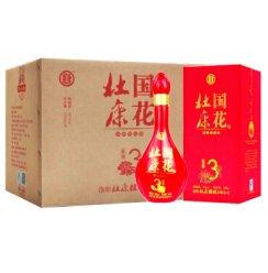 杜康酒 国花陈酿3白酒红瓶50度浓香型白酒500ml 6瓶整箱
