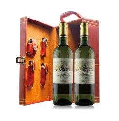 法国红酒AOC 查特公斯坦白葡萄酒双皮盒 750ml*2