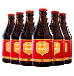 比利时进口 Chimay 智美红帽啤酒 组合装 330ml*6瓶 修道士精酿