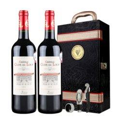 【赠双支皮箱】法国原瓶进口红酒  克鲁斯杜鲁干红葡萄酒波尔多AOC 双支礼盒