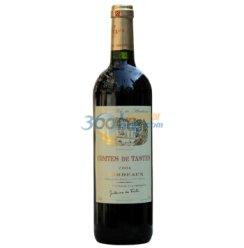 法国原瓶进口 AOC级 德泰仕伯爵波尔多干红葡萄酒 750ml