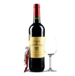 法国红酒 原瓶进口 波尔多大区AOC 莫卡男爵干红葡萄酒 750ml