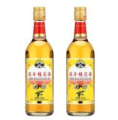 古越龙山 半甜露酒 女士时尚果酒 低度花果酒桂花酒 陈年桂花酒500ml*2瓶