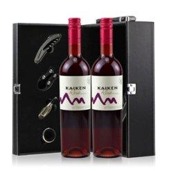 【俺买酒】阿根延开肯桃红葡萄酒礼盒13.5度750ml*2瓶 红酒礼盒