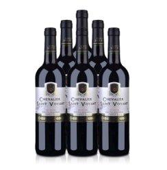 法国 原瓶进口 法圣古堡 圣威骑士 干红 葡萄酒750ml*6 红酒 整箱装