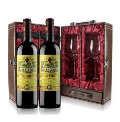 原瓶进口 法国卡斯特兄弟公司斐兰德酒庄干红葡萄酒AOC金奖2*750ml 双支豪华礼品套装