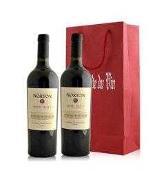 阿根廷 诺顿庄园加本力苏维翁红葡萄酒橡木桶特酿双支礼袋装
