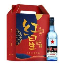 【北京总厂产】红星二锅头蓝瓶 43度500ml*6瓶/白酒礼盒装