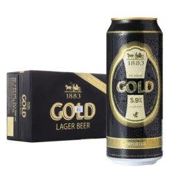 德博金色经典拉格啤酒500ml*24听整箱装 德国原装进口