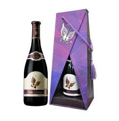 【京东超市】金蝴蝶干红葡萄酒西班牙红酒礼盒包装3A京东配送750ml