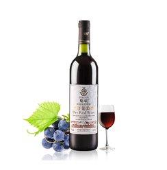 紫轩庄园白标干红葡萄酒国产红酒赤霞珠葡萄酒正品红酒果酒单瓶装