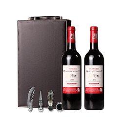 法国 原瓶进口红酒 城堡级干红葡萄酒 中秋红酒送礼盒装双支 包邮