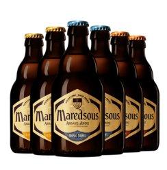 《【京东】Maredsous 马杜斯 6 /8/10度混装精酿 330ml*6瓶 58元(双重优惠)》