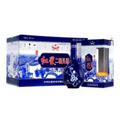 红星二锅头蓝花瓷珍品 清香型白酒 46度500ml*6/整箱装