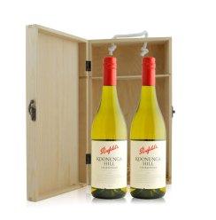 澳大利亚 奔富酒园蔻兰山莎当妮干白葡萄酒双支松木礼盒装