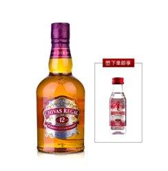 【赠品数量有限送完为止】芝华士(Chivas Regal) 12年苏格兰威士忌500ml 洋酒