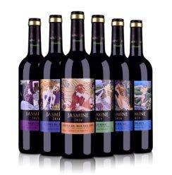 茉莉花法国原瓶进口 六大法定产区AOP干红葡萄酒750ml*6