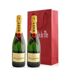 法国 酩悦香槟双支礼袋装