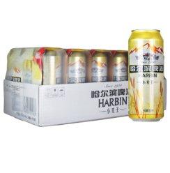 【京津冀快速达】哈尔滨(Harbin) 小麦王啤酒 500ml*18听/整箱