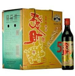 绍兴黄酒古越龙山五年陈 6瓶500ml整箱 五年陈发财酒加饭糯米老酒 500ml*6瓶整箱