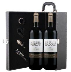 爱克维iCuvee精品酒 法国进口红酒 格拉夫产区 宝斯科酒庄干红红葡萄酒 750ml*2瓶 双支礼盒装