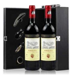 路易拉菲波尔多干红葡萄酒750ML*2礼盒装 法国红酒 原瓶进口