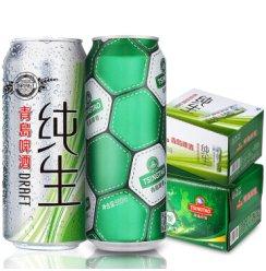 青岛啤酒 纯生500ml*12听+足球罐500ml*12听
