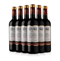 法国波尔多法定产区AOC原瓶进口 夏利耶庄园干红葡萄酒 整箱6瓶装