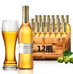 百威Budweiser金尊啤酒 经典黄啤330ml*12支装