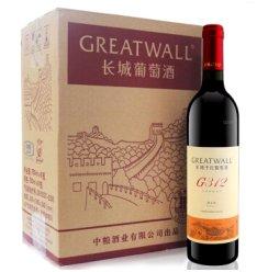 长城(GreatWall)解百纳G312干红葡萄酒750ml*6 国产红酒整箱