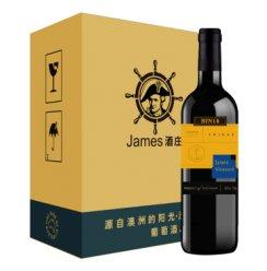 詹姆士酒庄Bin18西拉干红葡萄酒 750ml*6瓶 整箱装 澳洲进口红酒