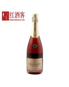 西班牙水晶金钻天然桃红干起泡葡萄酒