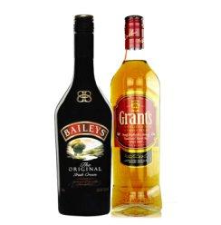 爱尔兰百利甜酒力娇酒/格兰苏格兰威士忌双支组合 750ml*2