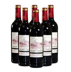 法国原瓶进口 浩瀚之路 佳利酿/歌海娜/美乐干红葡萄酒整箱6支装 (750*6ml)
